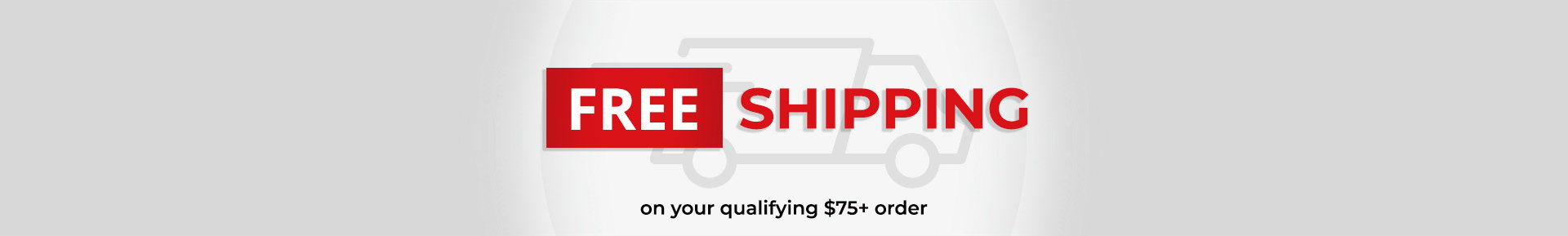 Free Shipping on your qualifying $75+ order
