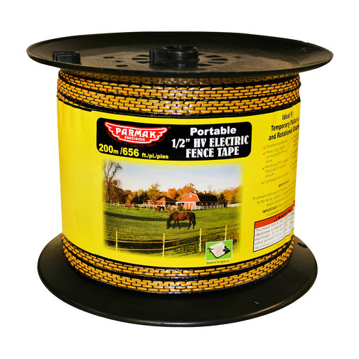 """View larger image of 1/2"""" HV Portable Electric Fence Tape"""