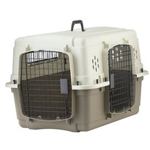 Double Door Plastic & Wire Dog Crate