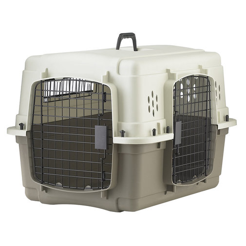 View larger image of Double Door Plastic & Wire Dog Crate