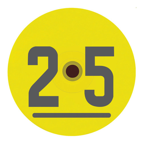 View larger image of DuFlex Standard Round Numbered Tag