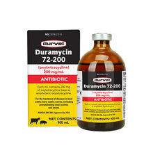 Duramycin 72-200 Injectable Antibiotic for Cattle and Swine