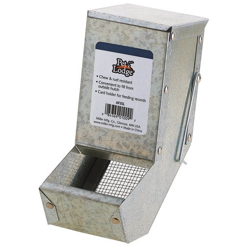 View larger image of Galvanized Small Animal Feeder with Lid