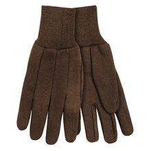 Heavyweight Brown Jersey Gloves