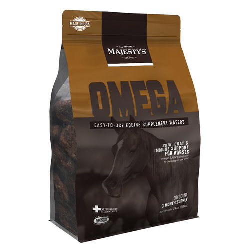View larger image of Majesty's Omega Wafers Skin, Coat and Immune Support Supplement for Horses