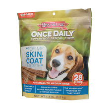 Missing Link Once Daily Skin & Coat Dental Chew for Dogs
