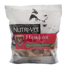 Nutri-Vet 500 mg Glucosamine Hip & Joint Biscuits for Dogs