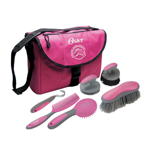 View larger image of Pink 7-Piece ECS Horse Grooming Kit